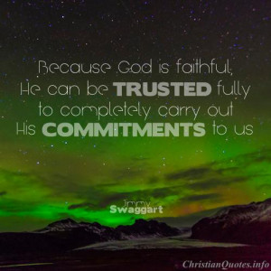 Jimmy Swaggart Quote - Christ's Commitments to Us - northern lights ...