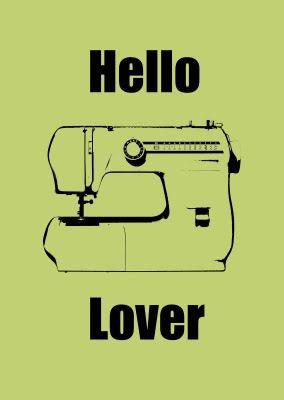 sewing machine love!