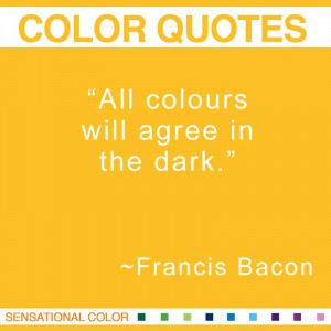 Color Quotes By Francis Bacon