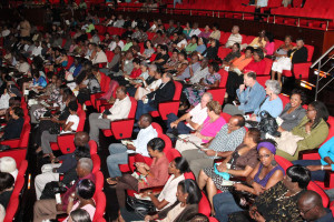 cross section of the audience at the concert