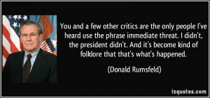 You and a few other critics are the only people I've heard use the ...
