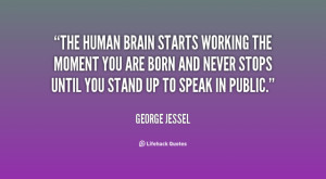 George Jessel quote on Brain is free to download and available in ...