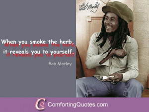 Famous Bob Marley Quote About Weed and Smoking