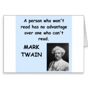 Mark Twain quote Cards