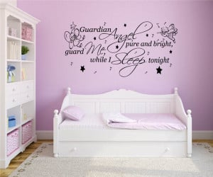 Guardian Angel - Nursery Rhyme Quote - Vinyl Wall Art Decal Sticker ...