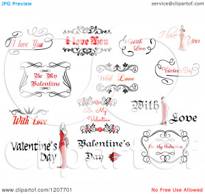 Clipart-Of-Valentine-Greetings-And-Sayings-4-Royalty-Free-Vector ...
