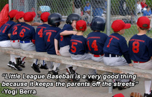 yogi berra funny baseball quote poster