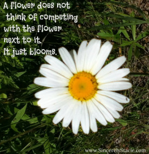 flower does not think of competing