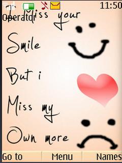 Miss Your Smile S40 Theme Mobile Theme