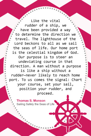 Young Women's Printable: Sailing Safely the Seas of Life