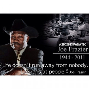 motivational / #boxing quote of the day: Joe Frazier (Taken with ...