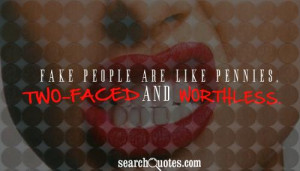 Two Faced People Quotes And Sayings
