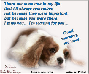 oriza.net Portal – Good morning, my love! I miss you... I'm waiting ...