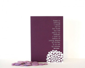 Jane Austen Quote - My Friends Gree ting Card -Northanger Abbey ...