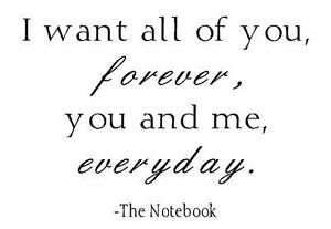 want-all-of-you-forever-The-Notebook-quote-wall-vinyl-art-quote ...
