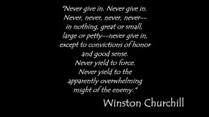 Inspiring Videos - Winston Churchill's Quote - Never Give Up