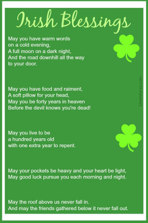 Irish Sayings, Blessings and Proverbs + Free Printable St. Patrick's ...