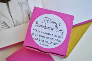 Bachelorette Party Favors: Movie Quotes