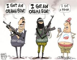 Cartoon Obama Guns 300x232 Obama Guns