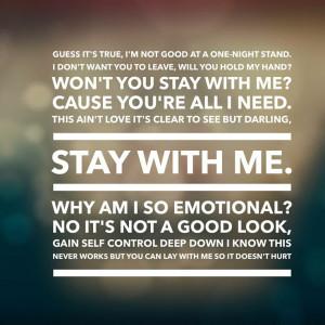 ... stay with me stay with me lyrics sam smith stay with me sam smith