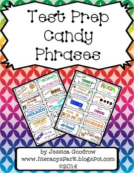 TEST PREP MOTIVATIONAL CANDY PHRASES - TeachersPayTeachers.com