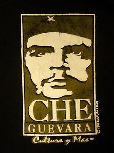 ... -1996-CULTURA-Y-MAS-CHE-GUEVARA-QUOTE-MENS-BLACK-T-SHIRT-SIZE-XL