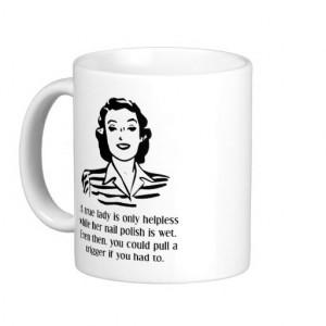 nail polish helpless funny mug