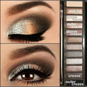 great for brown eyes this smokey eye uses urban decay s naked 2 ...