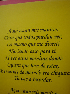 ... mother's day for a hand print. There is one in Spanish in case you
