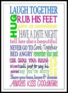 marriage advice to give to newlyweds :-)