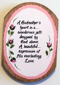 Godmother Verse on Wooden Plaque