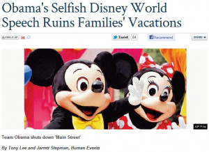 ... Out Over Obama Speaking At Disney World, As Other Presidents Have