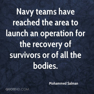 Navy teams have reached the area to launch an operation for the ...
