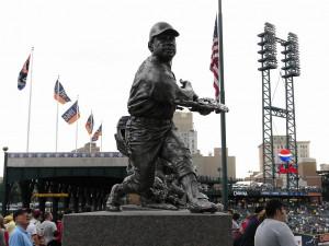 Comerica Park. Willie Horton's statue.