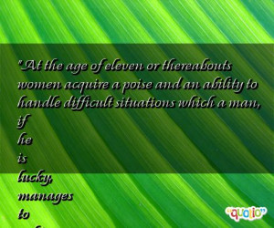 difficult situations which