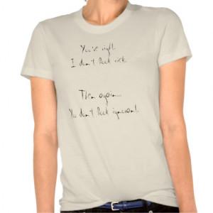 나는 아프게 보지 않습니다. 셔츠