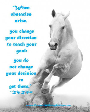 When obstacles arise, you change your direction to reach your goal;