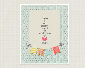 Jane Austen Quote Poster - Tenderness - Tender Heart - Blue Nursery ...