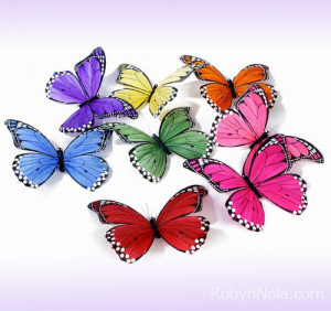 Large Rainbow Butterfly Garland: Inspirational Butterfly Gifts