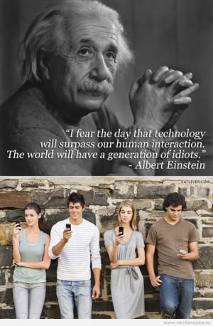 Albert Einstein Quotes About Technology
