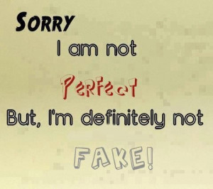 am Not Perfect Quote
