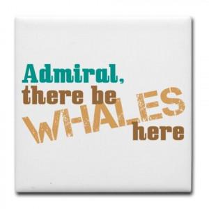 star trek scotty whale quote tile coaster $ 10 00