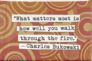Bukowski quote Magnet