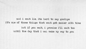 lyrics #song lyrics #Bryarly Bishop #Hard to Say Goodbye #submission