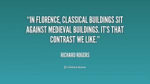 ... sit against medieval buildings. It's that contrast we like
