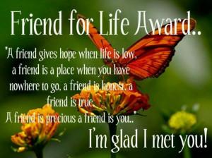 so glad I met you...