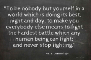 ee cummings quote be yourself