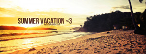 Heart Summer Vacation Facebook Cover