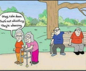 Funny old women cartoon