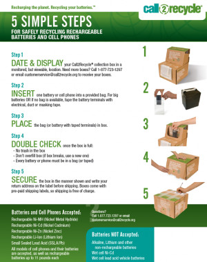 rechargeable batteries the rechargeable battery recycling ...
